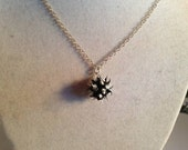 Black and White Necklace Spike Jewellery Sterling Silver Jewelry Chain Ball Rubber Mod Funky Goth