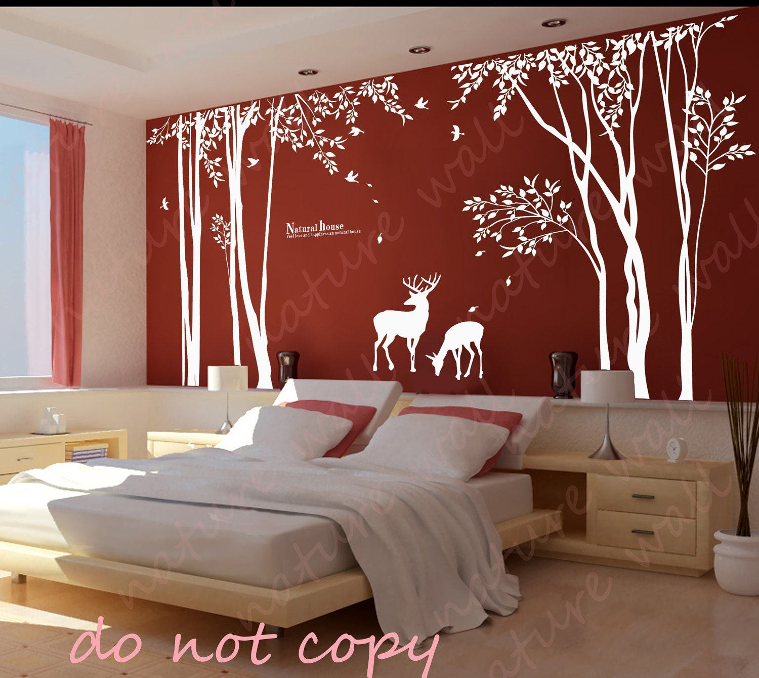 Forest decals room decor wall stickers kids wall by naturewall for 007 room decor