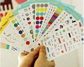 15 Sheets Korea Pretty Sticker Set - Deco Sticker Set-Happy Study