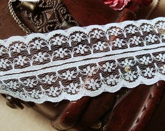 5 Yard Embroidery Lace Gauze 4.4cm wide