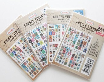4Sets Korea Pretty Sticker Set - Paper Deco Sticker Set -Colorful Paper Sticker