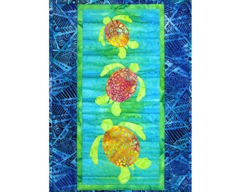 Turtle Quilt ePattern, 4128-25, turtle wall quilt, turtle wall hanging