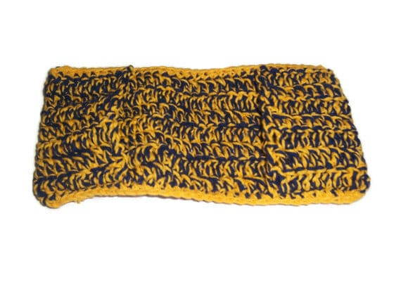 75% off - Navy and Yellow Swiffer Cover - Washable , Reusable , Eco friendly - 100 percent cotton