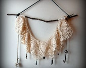 SALE vintage lace boho wall hanging No.1,one of a kind