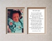 8x10 - photo memorial poem - Our Little Angel