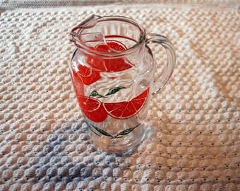 Vintage retro orange juice pitcher