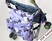 Reversible Buggy Tote Bag with Arm Straps