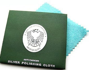 2 Silver Cleaning Cloths Keeps Your Silver Creations Tarnish Free - Z43