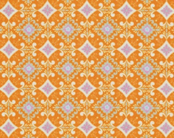 Orange Fabric Pretty Little Things Fabric Gracie in Orange Dena Fishbein Half Yard