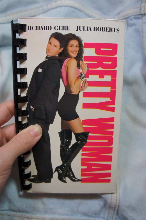 recycled PRETTY WOMAN vhs notebook