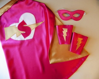 Personalized Super Hero Cape Custom Monogram Superhero Boys