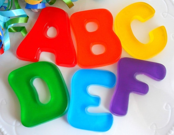 Abc Party Favors: ALPHABET SOAP ABC Birthday Party Favor Back To School