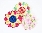 Vintage Crochet Doily Flowers Doilies