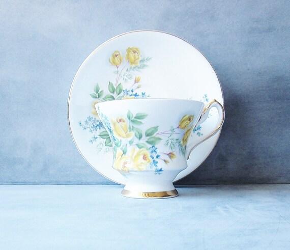 Vintage Teacup Royal London Yellow Rose Bone China England