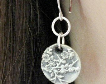 Cherry Blossoms - Bridesmaids Gift - Wax Seal Earrings - Gifts for her- Wax Seal Jewelry - Anniversary Gift