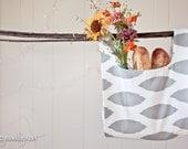 Gray Ikat Market Bag