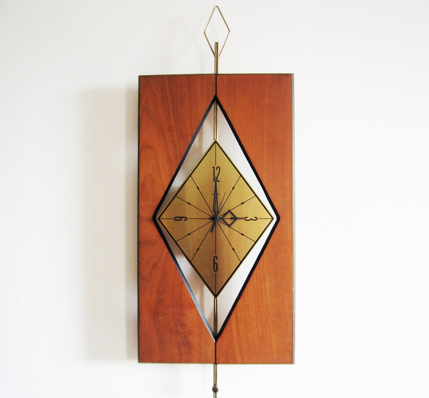 Large Vintage Welby Wall Clock Mid Century Modern Design
