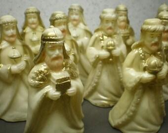 Vintage Set Of Eleven Christmas Wise Men Decorations
