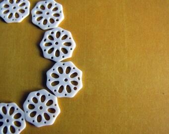 Slice of Life Carved Bone Beads, 2pcs