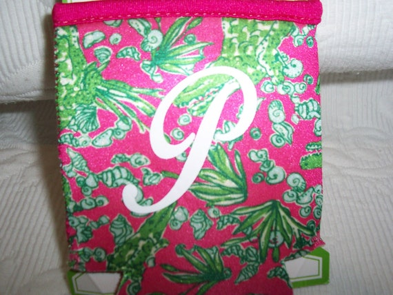Lilly Pulitzer Monogrammed Koozie See You Later Gift Wrapped