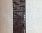 Quilter's Hanging Ruler Rack, 24 slots, Walnut (S)