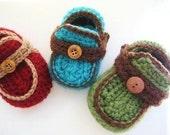 Boy's Moccasins Crochet Baby Booties Pattern ( pdf pattern for sale) 4 sizes, INSTANT DOWNLOAD, A Crochet Pattern pdf