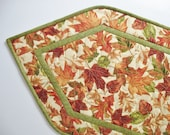 Autumn Table Runner Quilted fabric from Timeless Treasures and Fabri Quilt Reversible