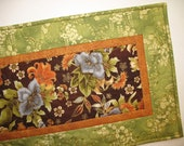 Floral Table Runner Quilted focus fabric from Robert Kaufman