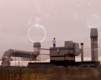 The Bubble Factory  -  8 x 10 Industrial Dream - Children's Room Decor - Limited Edition Print by My Antarctica
