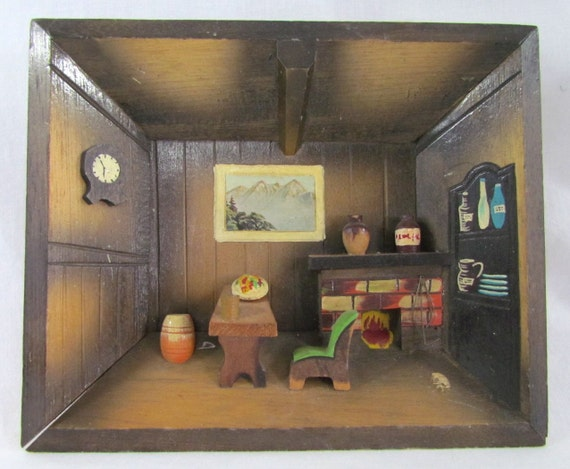 Wall Decor Picture of Old Fashion Room Dimensional Wooden
