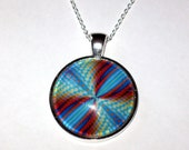 Wow Swirl Color design Pendant for Necklace Silver Plated
