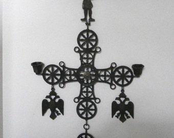 Pennsylvania Dutch hanging candle holder