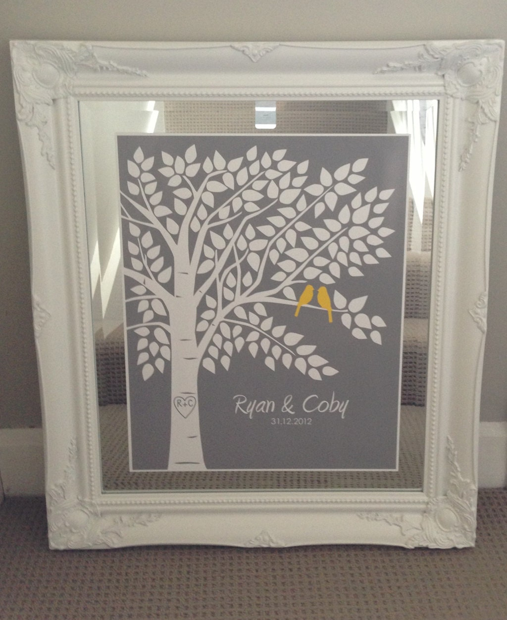 Guest Book Printing: Guest Book Tree Personalized Wedding Print 16x20 150