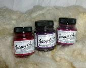 Jacquard Acid Dyes, 3 one half ounce jars