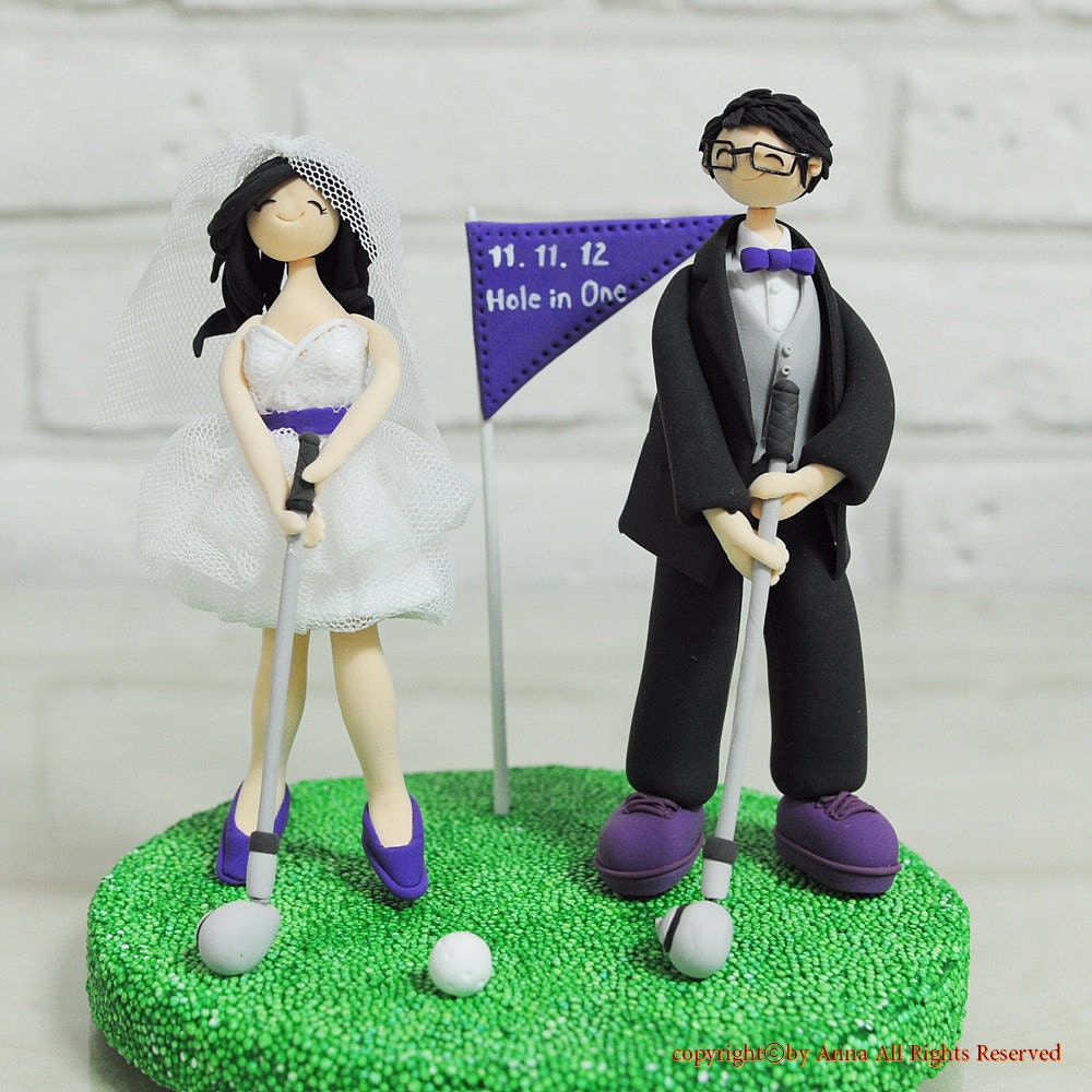 golf themed wedding cake toppers golf custom wedding cake topper gift decoration 14845