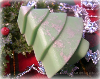 Pine Tree Handmade Glycerin Soap Novelty Winter Christmas U Pick Color & Scent