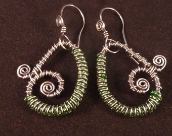 Sterling Silver Coiled and Spiraled Earrings