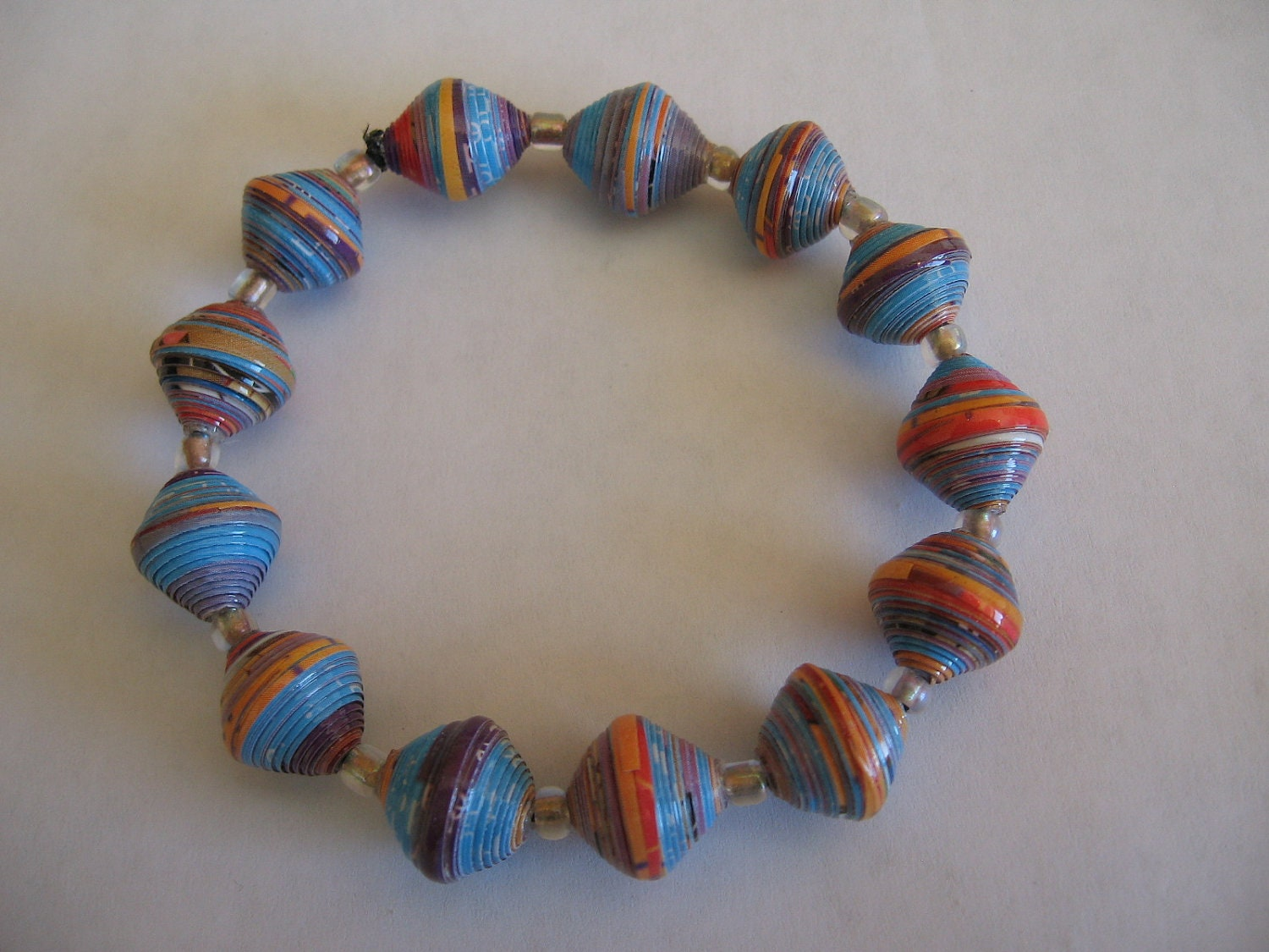 paper bead bracelet Shop akola african queen lapis, pyrite and karatasi paper bead bracelet 8486564, read customer reviews and more at hsncom.