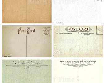 Antique POSTCARD Images - Digital Download for Papercrafts, Transfers, Pillows, Scrapbooks, and more.