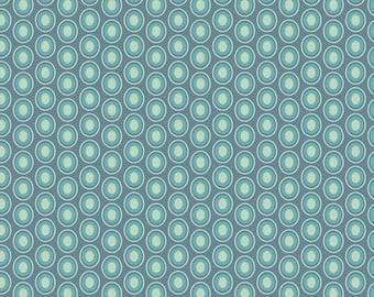 Oval Elements VINTAGE BLUE (OE-925) - Pat Bravo - Art Gallery Fabrics - By the Yard