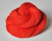 Toxic Tomato OOAK - BFL Sock Yarn Superwash
