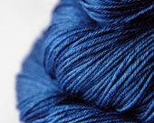 Ground sapphire - Merino/Silk Fingering Yarn Superwash