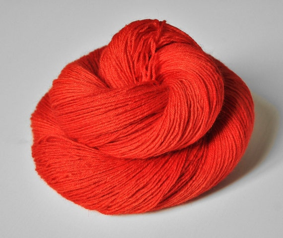 Toxic Tomato OOAK - BFL Sock Yarn Superwash