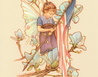 Wings of Freedom Fairy 8.5x11 Print