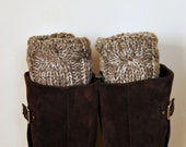 BOOT CUFFS Socks Leg Warmers Choose COLOR  Birch Brown Beige Cozy Earth Neutral Forest Nature Knit Gift under 50