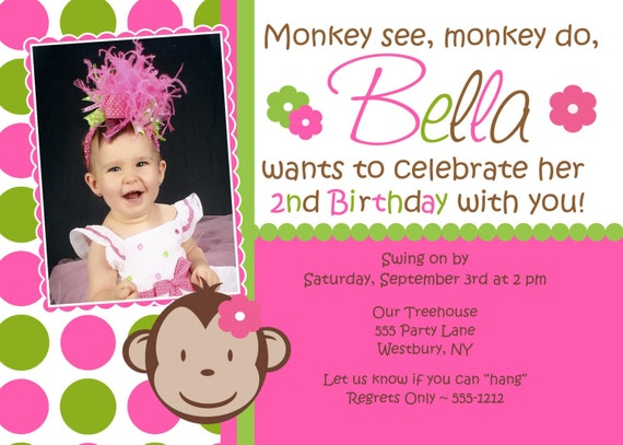 Mod monkey birthday invitation mod monkey girl matching party il570xn filmwisefo