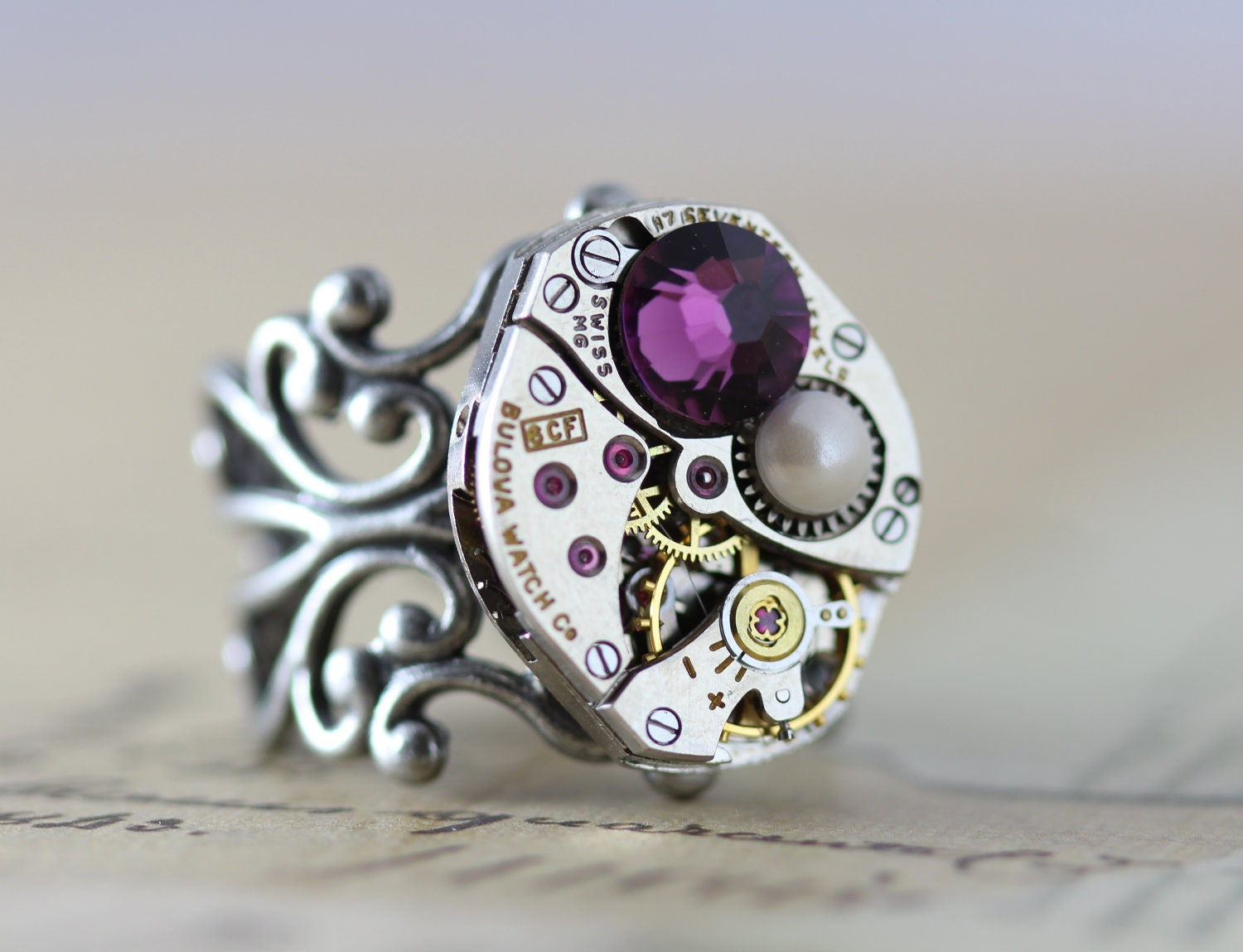 mothers ring unique mothers day gift birthstone ring