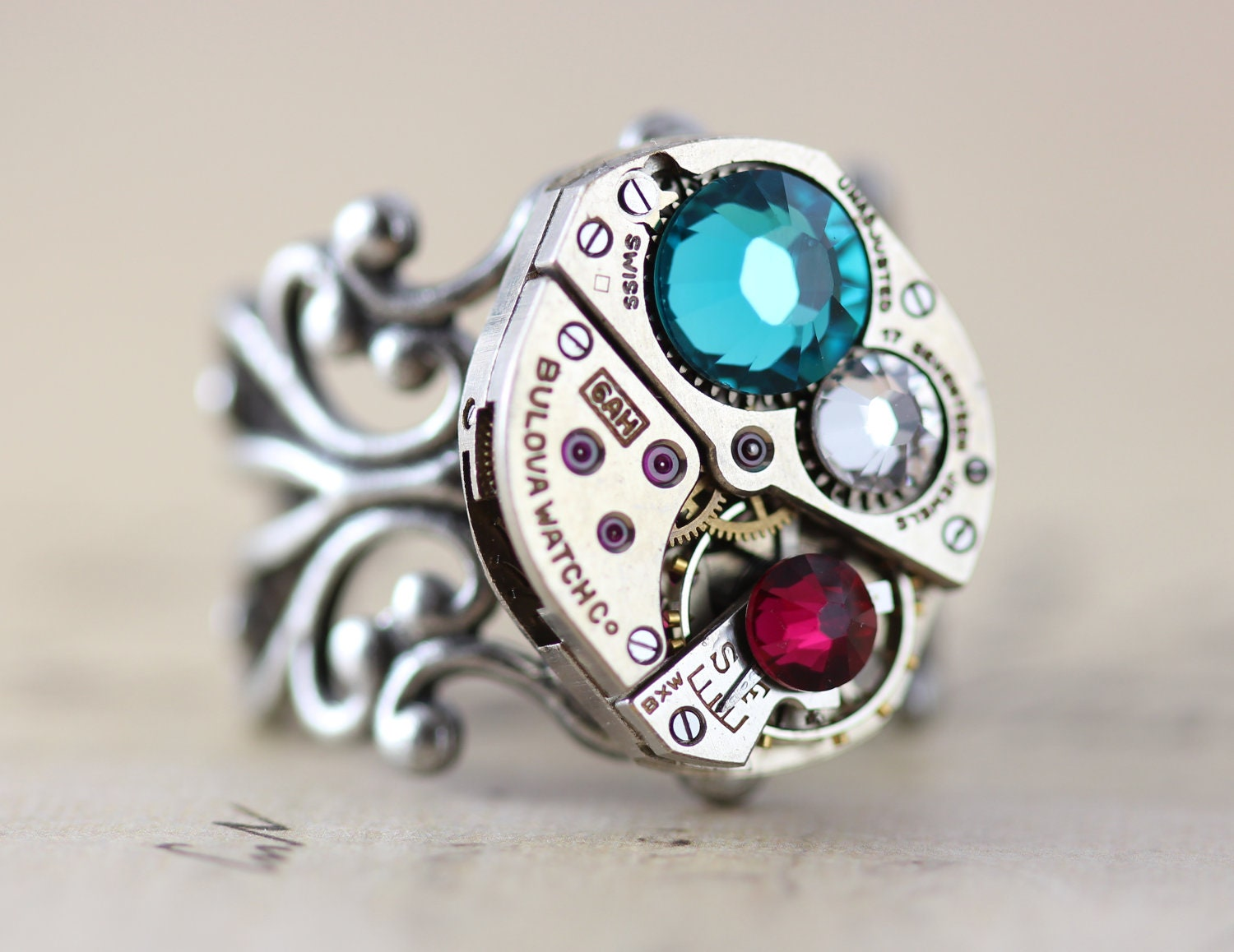 custom made jewelry steunk mothers ring ring