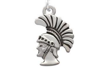 Trojan Mascot, Silver Plated Charm, Qty.1