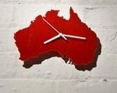 Australia clock (Red)
